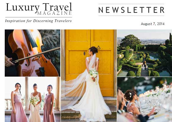 Destination Wedding: Italian Wedding Couture featured on Luxury Travel Magazine