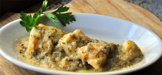 A traditional local recipe: baccala' alla vicentina - image from giallozafferano.it