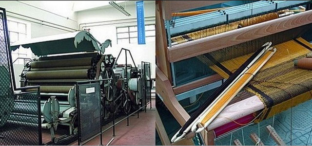 Ancient machinery at the Museum of Weaving Machines - image from mumatvaldagno.it