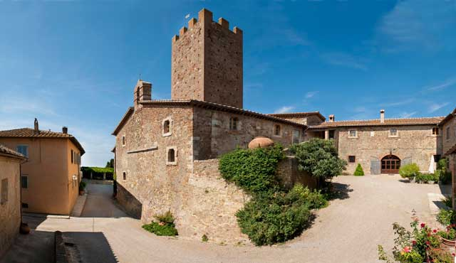 Historic buildings at Tenuta Marsiliana