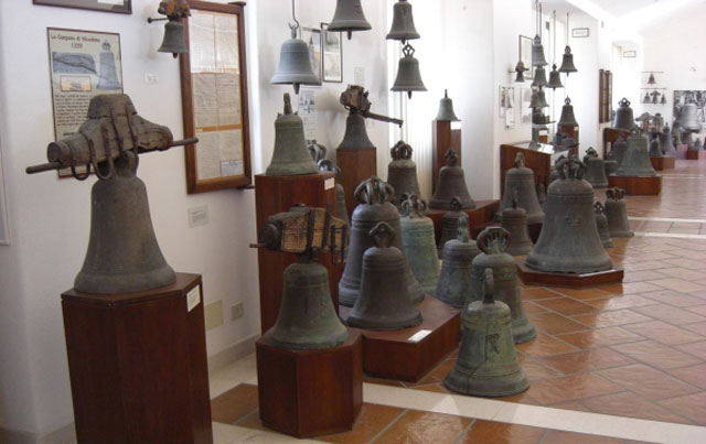 Bells at the Marinelli Pontifical Foundry Museum, photo by Marina Greco
