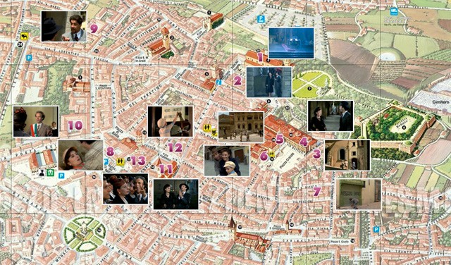 "Movie locations of ""La Vita è Bella"" (1997) in Arezzo. From visitarezzo.com"