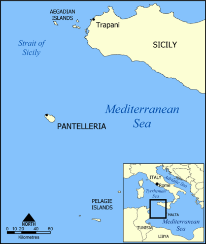 Map of Pantelleria - Created by NormanEinstein