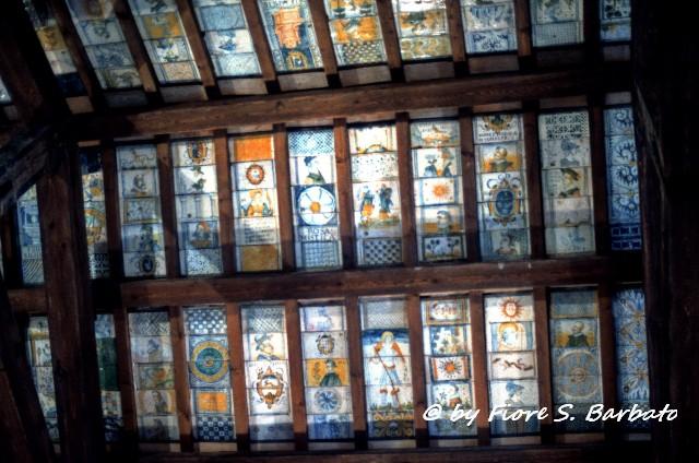 The beautiful ceiling in St. Donato Church, Abruzzo