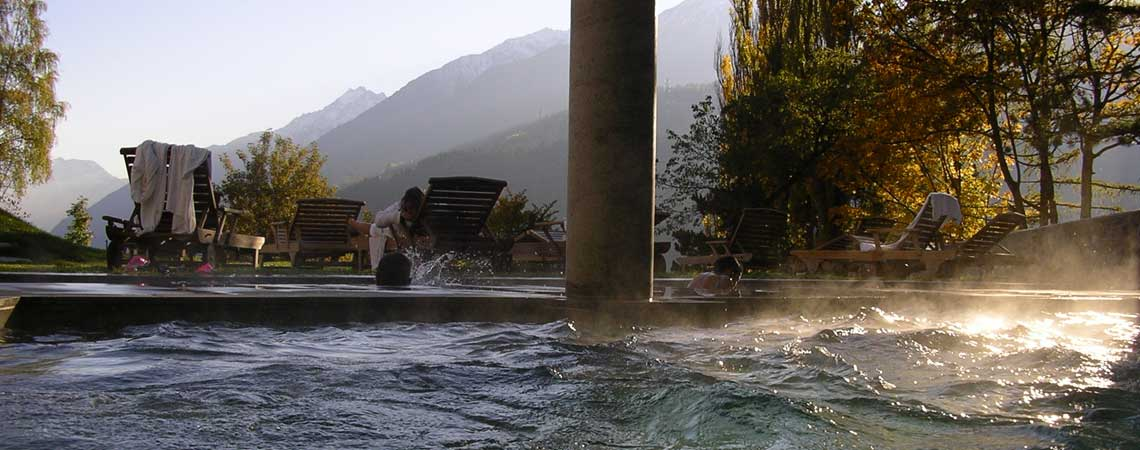 Bagni Nuovi open-air thermal swimming pool in Bormio