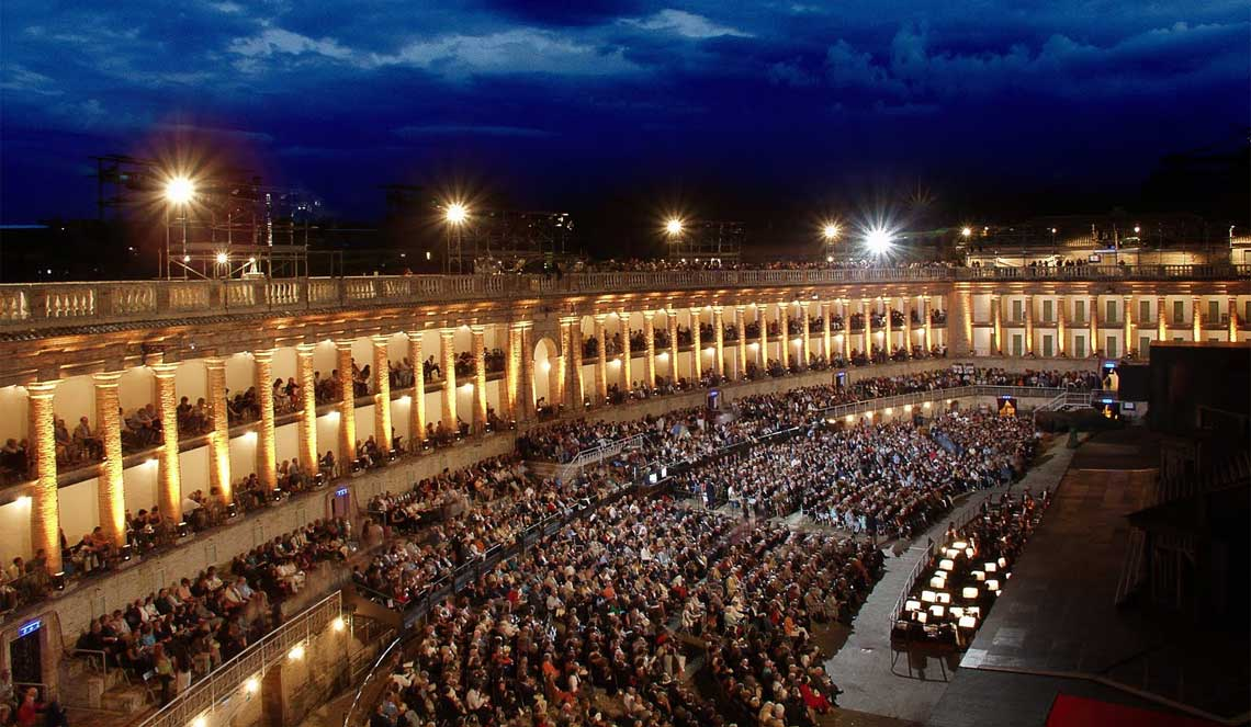 Italy's lesser-known theaters:  the Sferisterio of Macerata