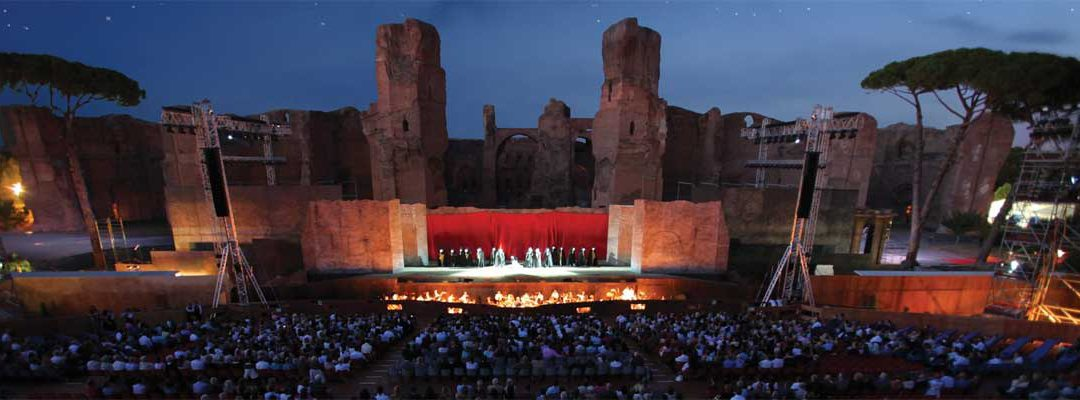 Caracalla Baths, open-air theater in Rome