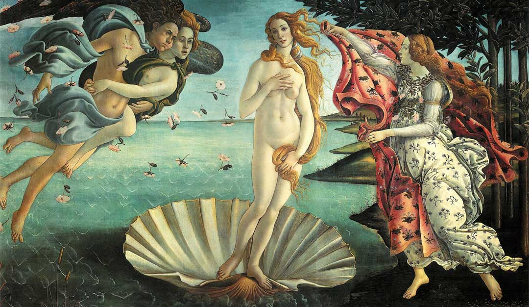 Did Botticelli depict the Bay of Poets in the Birth of Venus?
