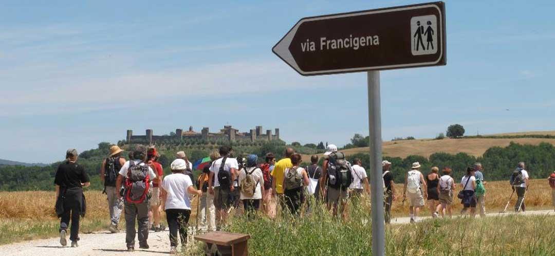 The spiritual Via Francigena, Tuscany, Italy