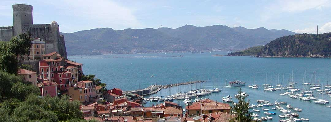 Lerici overlooking the Gulf of La Spezia