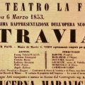 Poster for the world premiere of La Traviata