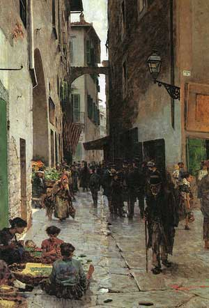 Ghetto of Florence by Telemaco Signorini