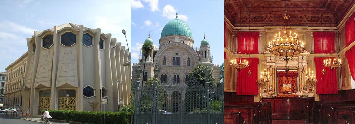Jewish Itineraries in Tuscany: synagogues in Livorno, Florence and Pisa
