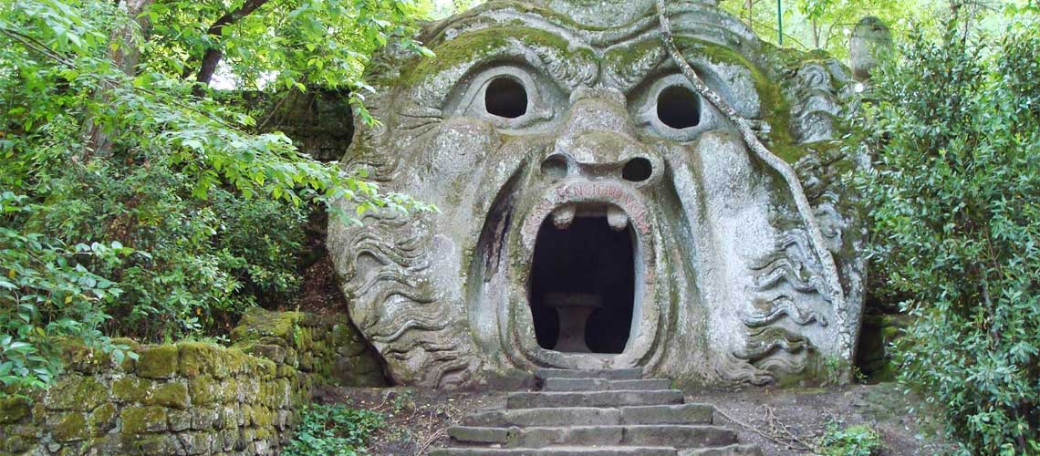 Sacred Woods of Bomarzo - open air museum near Rome