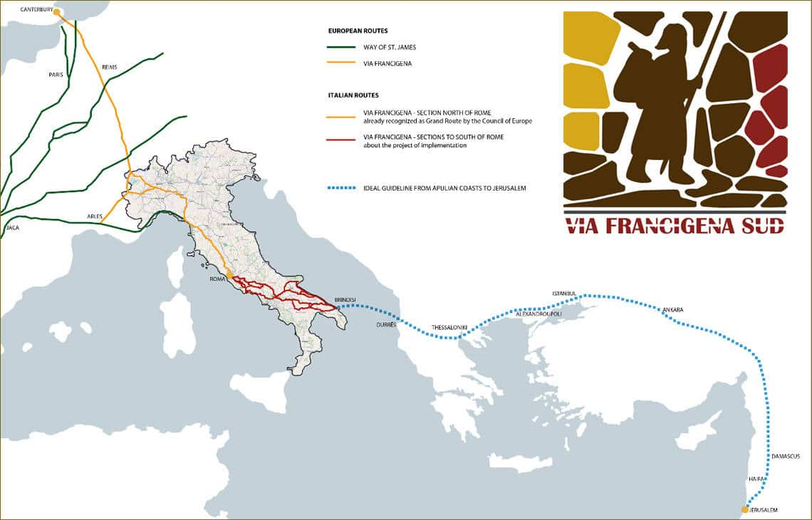The Via Francigena in southern Italy