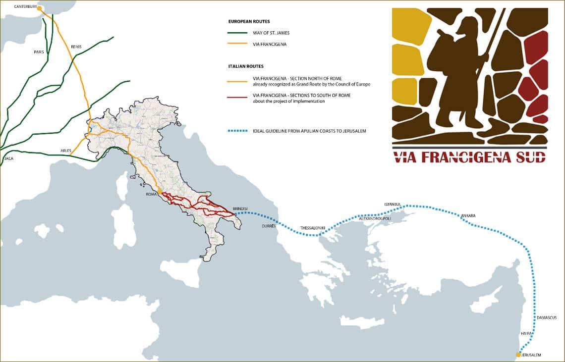 The Via Francigena in southern Italy