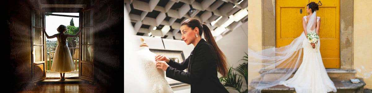 Custom wedding dresses by Italian high fashion designers