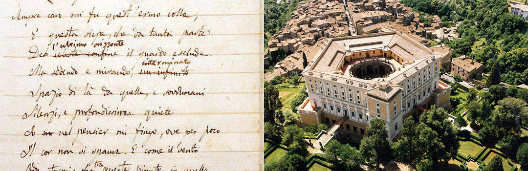 Leopardi's Manuscript and Villa Farnese in Caprarola, Italy