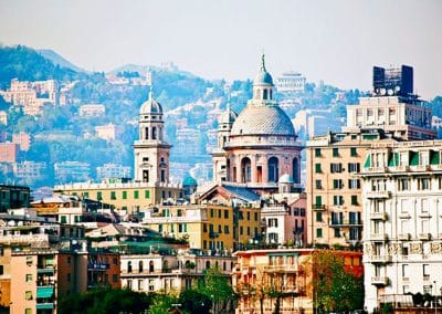 The historic port city of Genoa houses medieval and Baroque architecture.