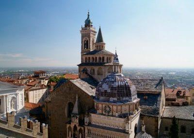 Bergamo's medieval hilltop center