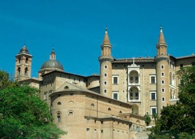 The walled city of Urbino, a World Heritage Site