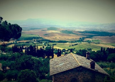 The spectacular Val d'Orcia in the Province of Siena