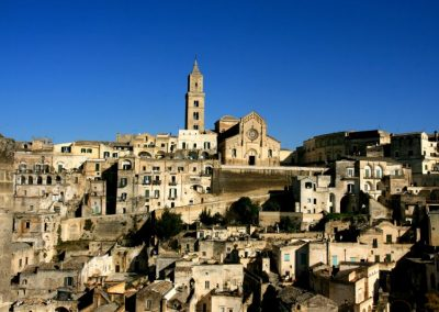 Matera's sassi cave dwellings are a World Heritage Site.