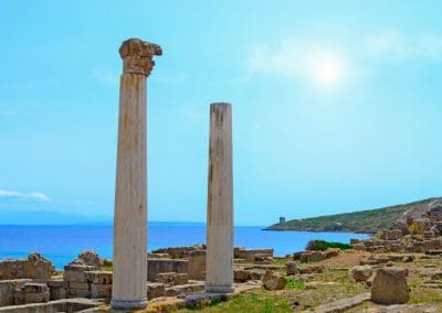 The ruins of the ancient Roman city of Tharros. - foto Credit Gabriele Maltinti