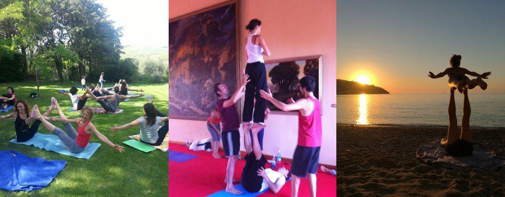 acro yoga team building italy