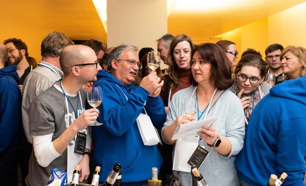 wine tasting corporate italy